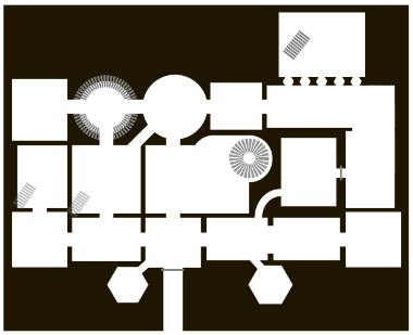 Floor plan for a portion of Emily Short's Bronze